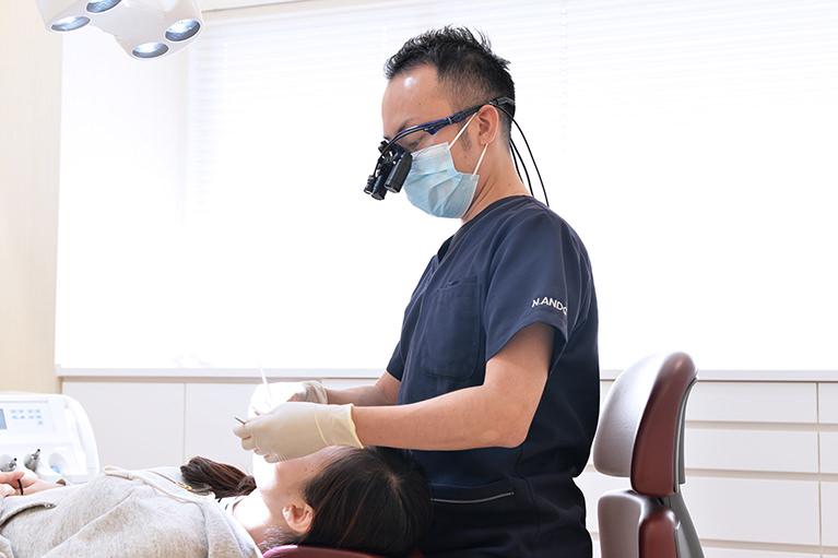 できるだけ歯を削らず、神経を残す